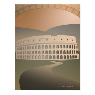 Road to the Colosseum, Rome, Italy Postcard
