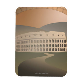 Road to the Colosseum, Rome, Italy Rectangular Magnet