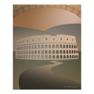 Road to the Colosseum Rome Italy Print