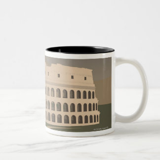 Road to the Colosseum, Rome, Italy Two-Tone Coffee Mug