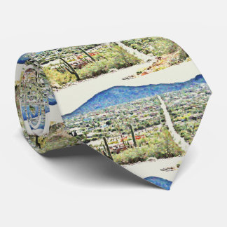 Road To Tontos Oil Painting Men's Tie