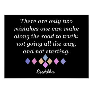 Road to Truth - Buddha quote - Print