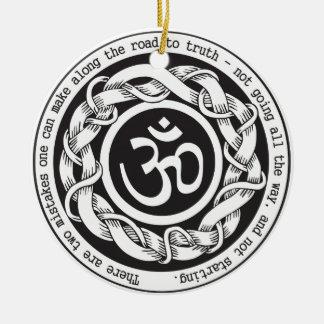 Road to Truth Devanagari Om Symbol Christmas Ornament