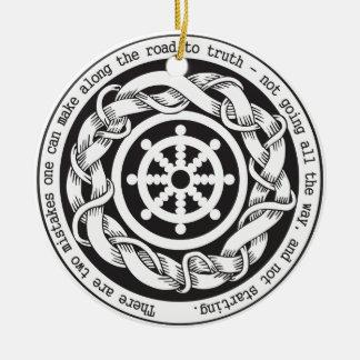 Road to Truth Dharma Wheel Christmas Ornament