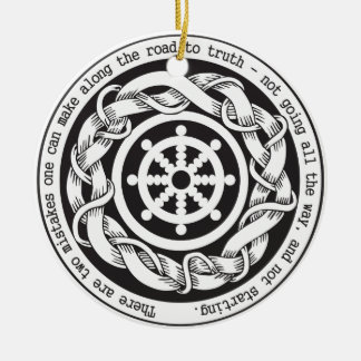 Road to Truth Dharma Wheel Round Ceramic Decoration