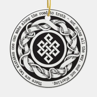 Road to Truth Endless Knot Round Ceramic Decoration