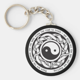 Road to Truth Yin Yang Basic Round Button Key Ring