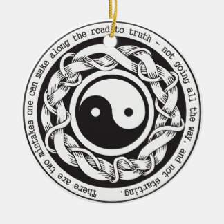 Road to Truth Yin Yang Round Ceramic Decoration