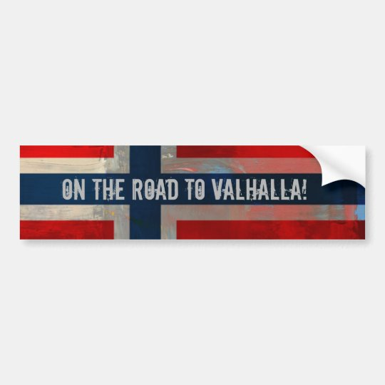 Road to Valhalla Bumper Sticker