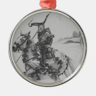 Road to War Silver-Colored Round Decoration