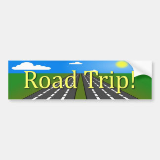 Road Trip! Bumper Sticker