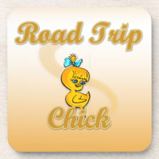 Road Trip Chick Drink Coaster