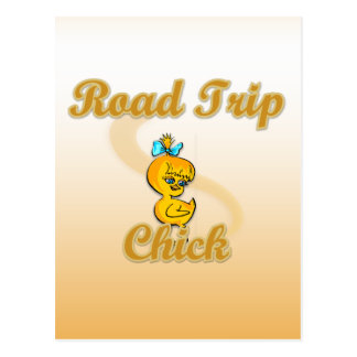 Road Trip Chick Postcard