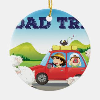 Road trip christmas ornament