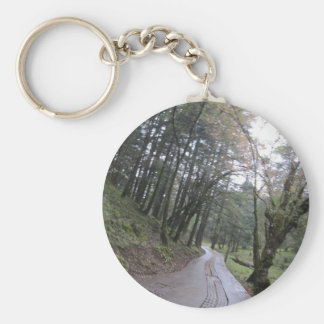Road trip forest jungle basic round button key ring