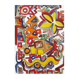 Road Trip-Hand Painted Abstract Geometric Acrylic Print