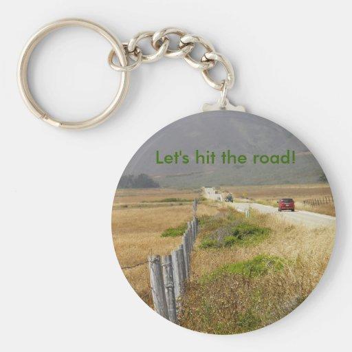 road trip in California Key Chains
