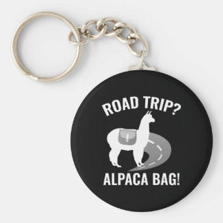 Road Trip? Basic Round Button Key Ring