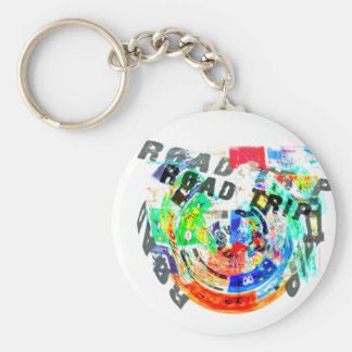 ROAD TRIP PRODUCTS BASIC ROUND BUTTON KEY RING