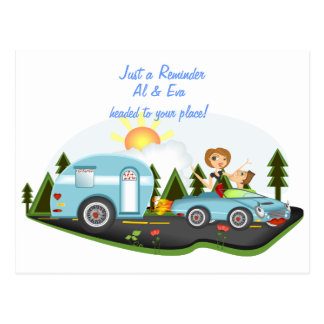 Road Trip Reminder Postcard