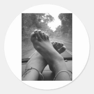 Road Trip Round Sticker