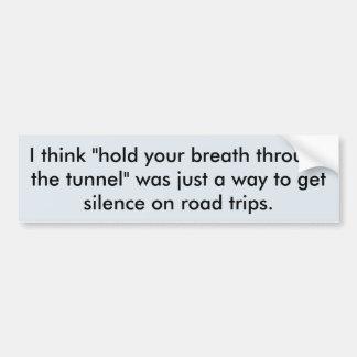 Road Trip Secret Bumper Sticker