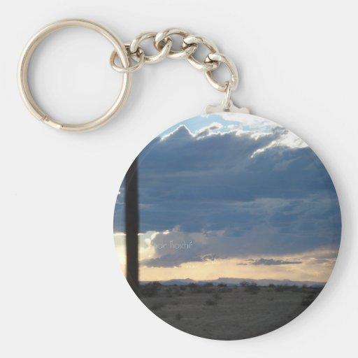 Road Trip Skies Keychain