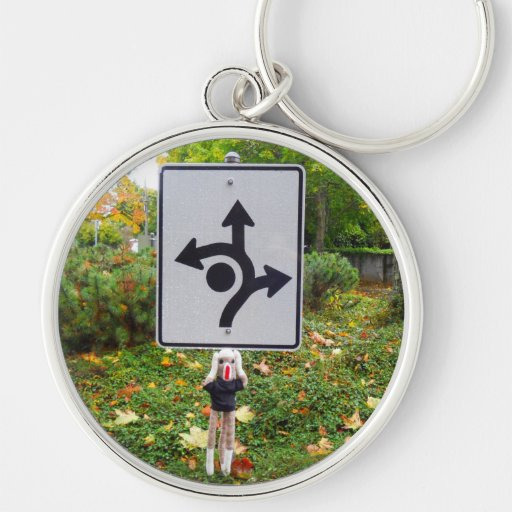 Road Trip Sock Monkey & Road Sign Key Chains