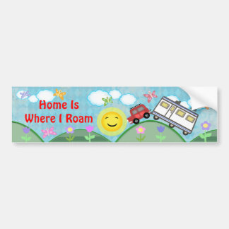 Road Trip Summer Vacation Bumper Sticker