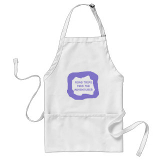 Road trips feed the adventurer png aprons