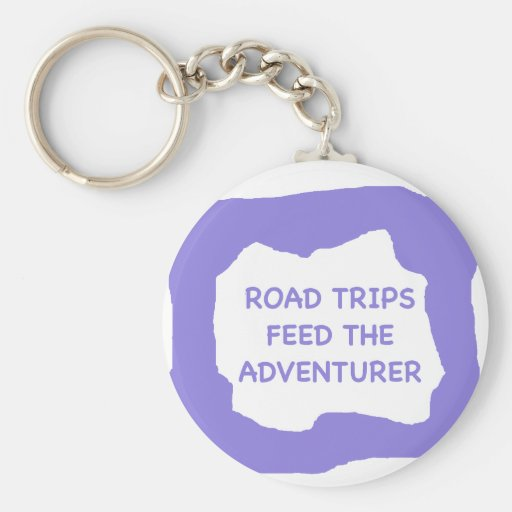 Road trips feed the adventurer .png key chain