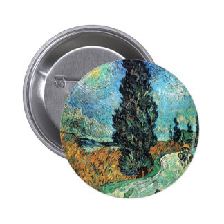 Road with Cypress and Star Buttons