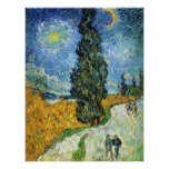 Road with Cypresses (van Gogh) Poster