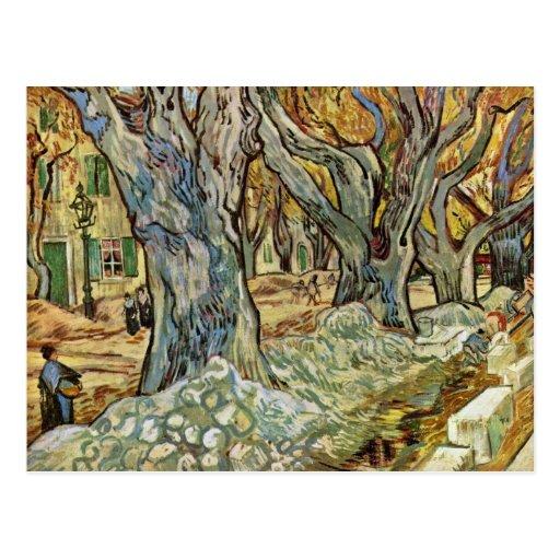 Road Workers By Vincent Van Gogh Postcards