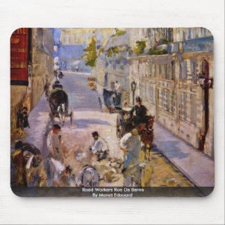 Road Workers Rue De Berne By Manet Edouard Mousepads