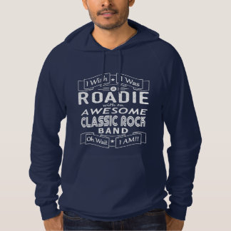 ROADIE awesome classic rock band (wht) Hoodie