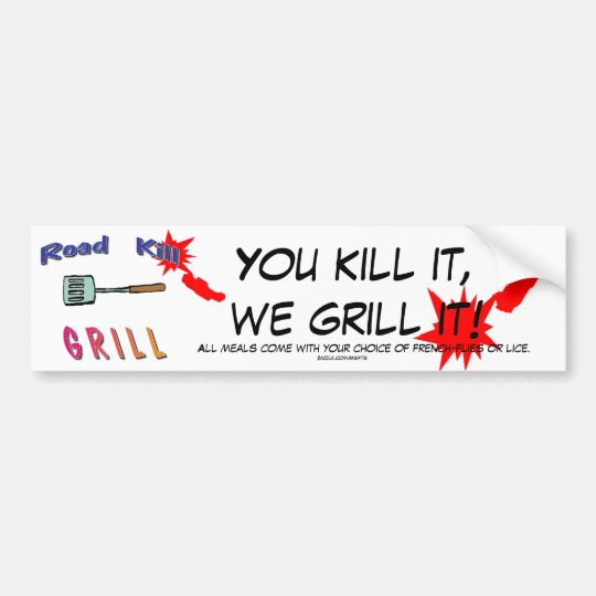 Roadkill Bumper Sticker