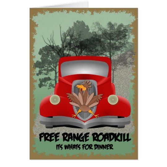 Roadkill Dinner Card