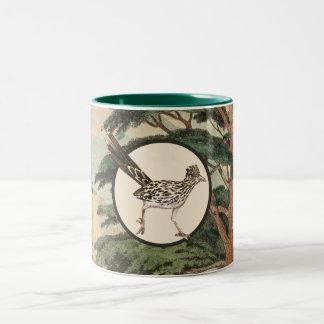 Roadrunner In Natural Habitat Illustration Two-Tone Coffee Mug