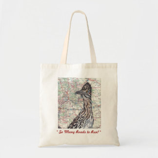 Roadrunner on New Mexico Map - Fun Vacation Tote! Tote Bag