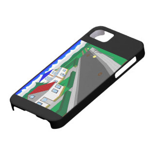 Roads and building of houses barely there iPhone 5 case