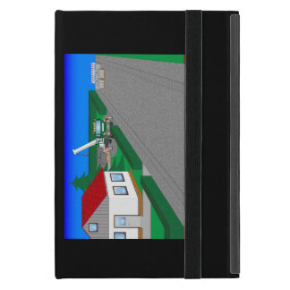 Roads and building of houses covers for iPad mini