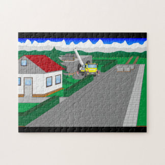Roads and building of houses jigsaw puzzle