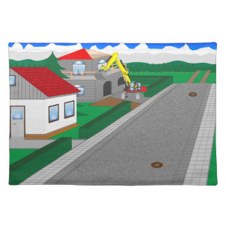 Roads and building of houses placemat