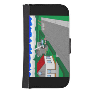 Roads and building of houses samsung s4 wallet case
