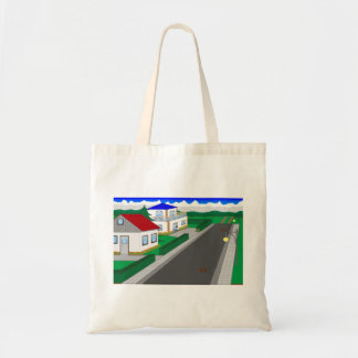 Roads and building of houses tote bag