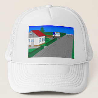 Roads and building of houses trucker hat