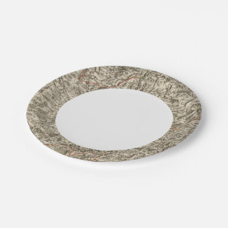 Roads of France 7 Inch Paper Plate