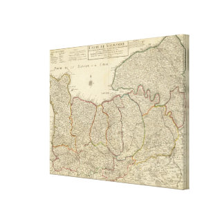 Roads of France Canvas Print