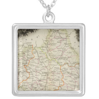Roads, Towns, Cities Silver Plated Necklace